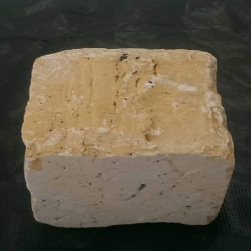 سنگ کوبیک تراورتن زرد